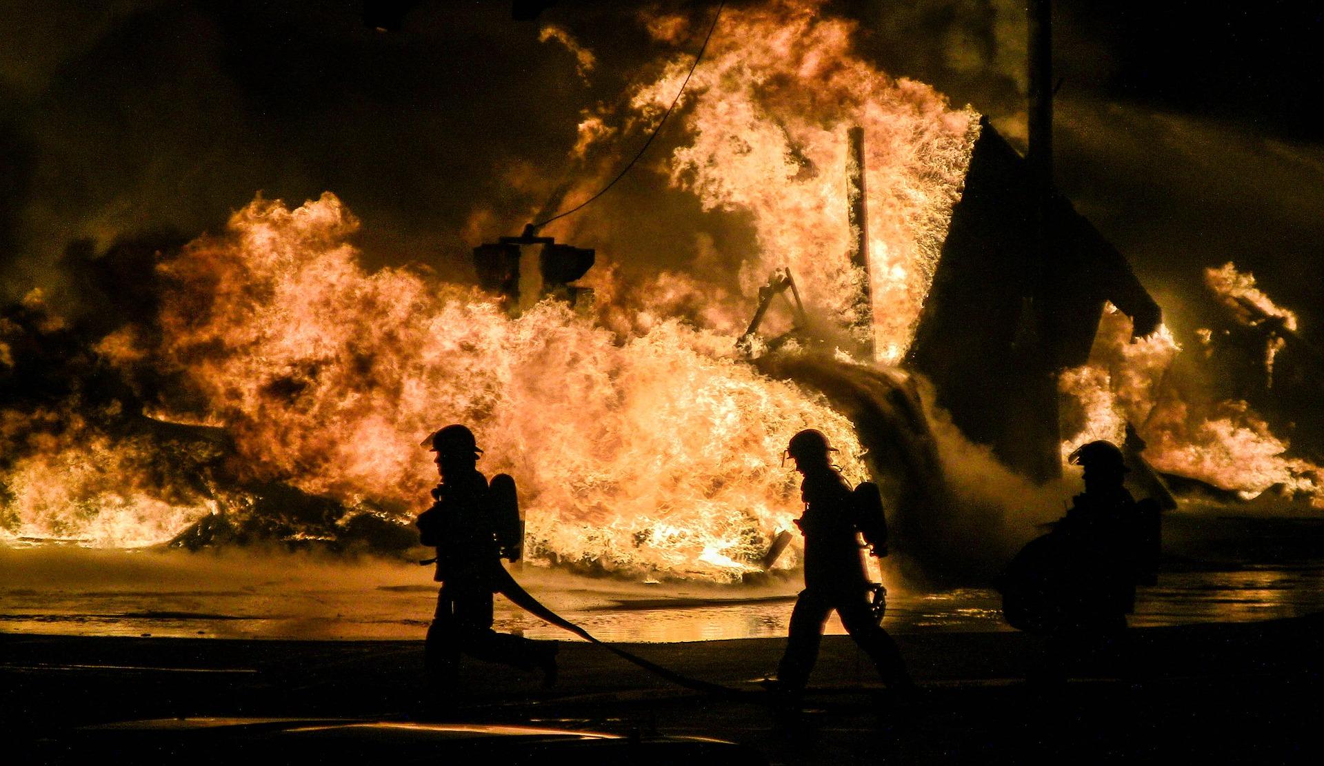 Пожары за 10 лет
