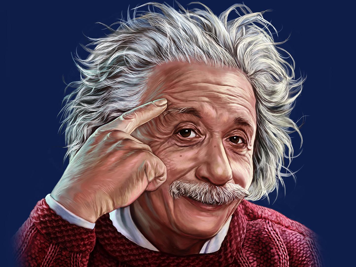 Альберт Эйнштейн - семь пядей во лбу